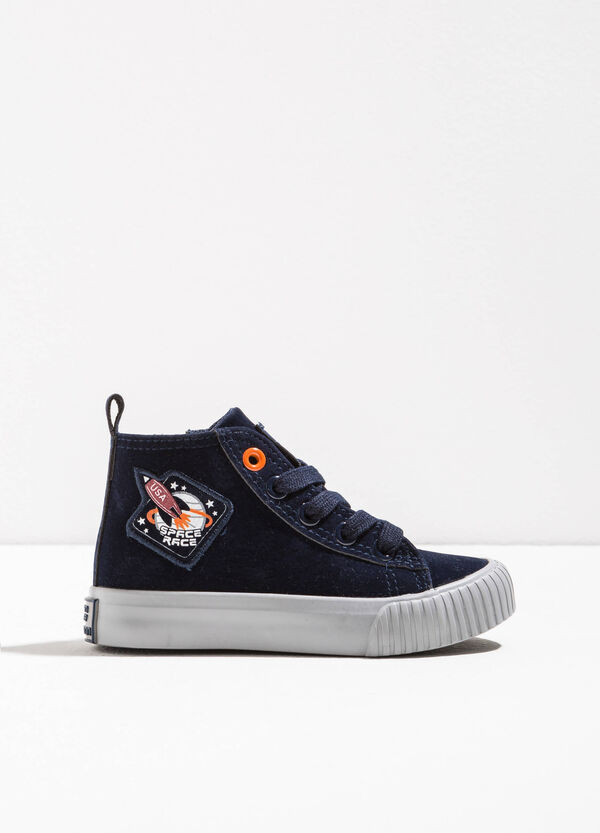 Sneakers alte con patch | OVS