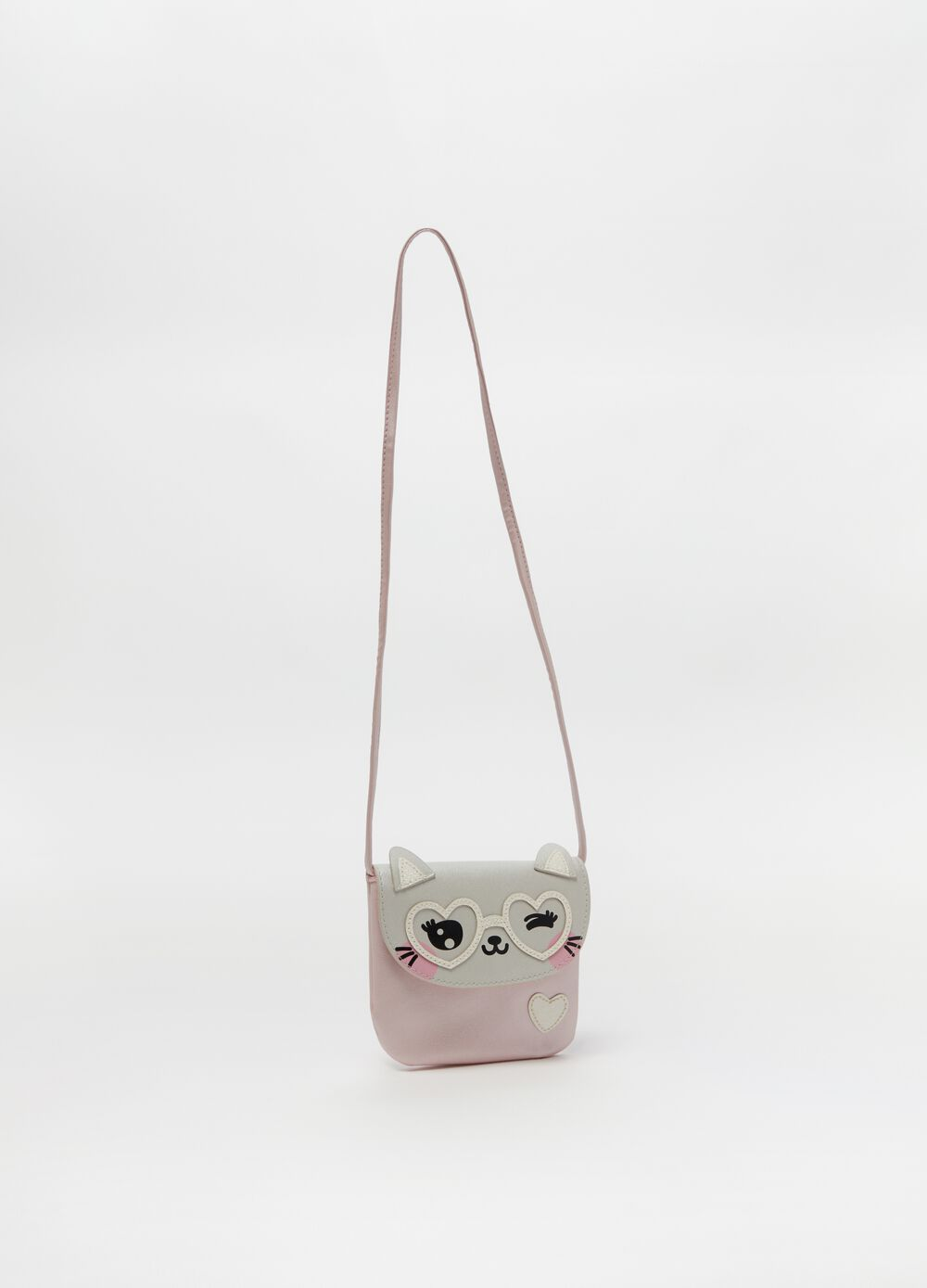Shoulder bag with print and flap