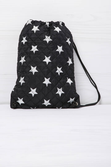Quilted bag with star pattern.