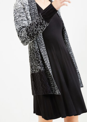 Long degradé cardigan with shawl neck