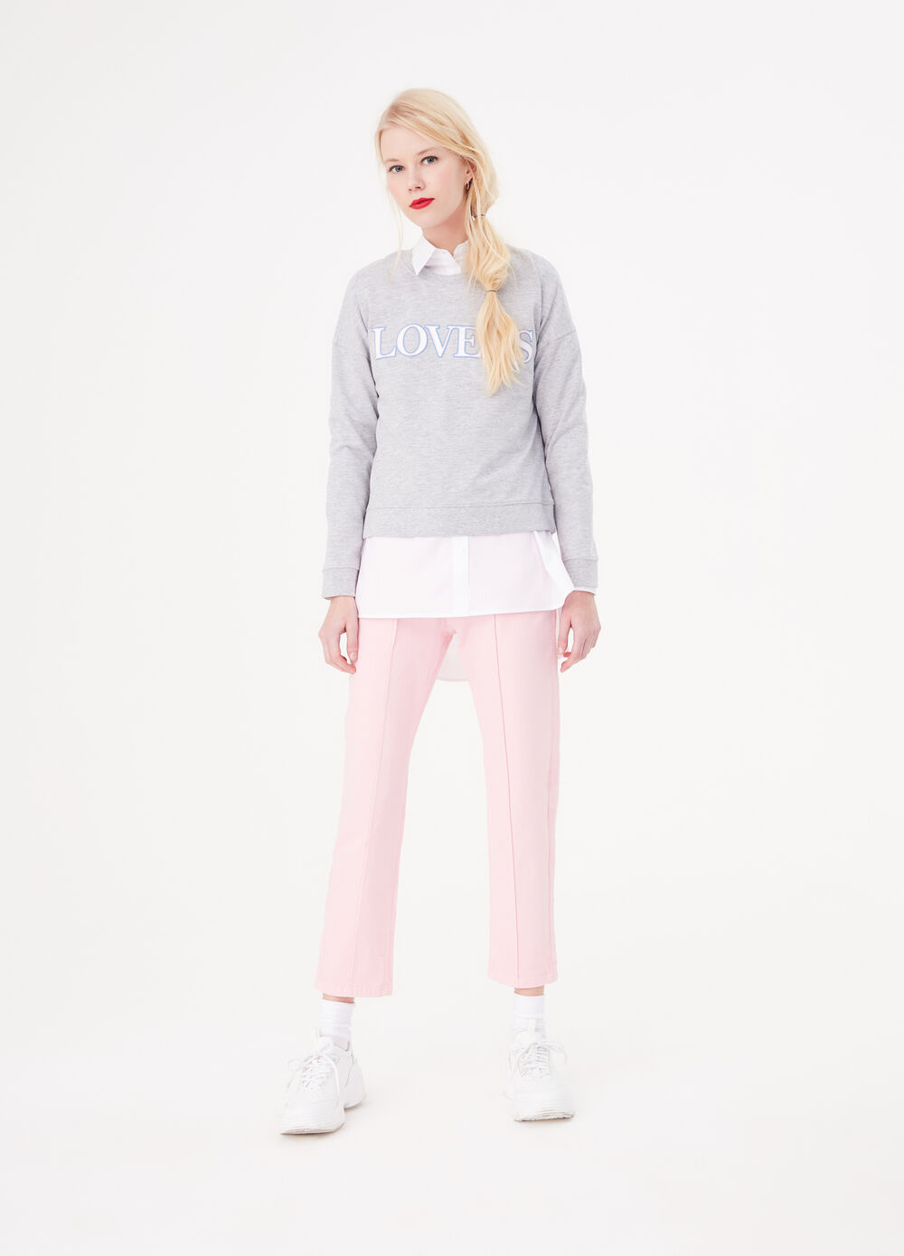 BCI sweatshirt in cotton with lettering print
