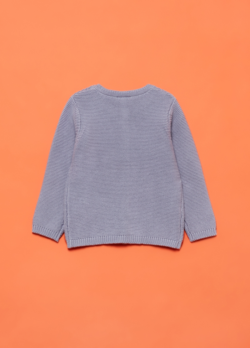 Knitted cardigan in 100% cotton image number null