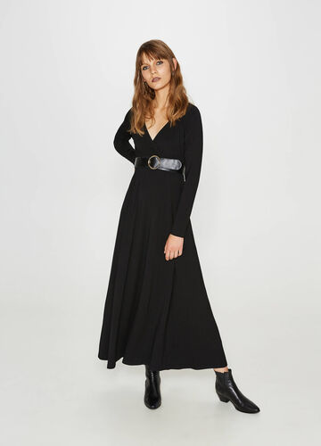 Robe longue en viscose stretch