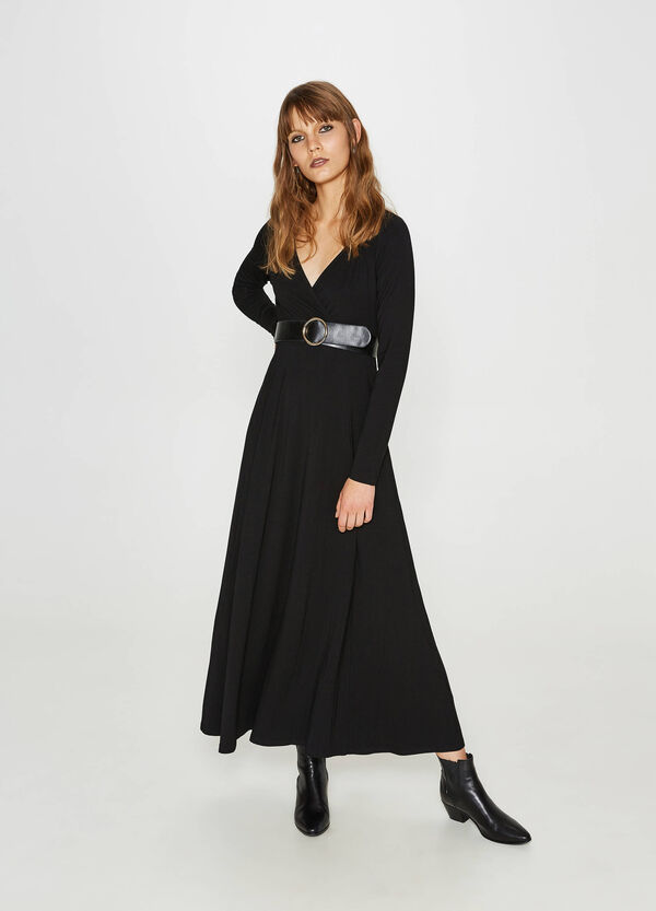 Long dress in stretch viscose | OVS