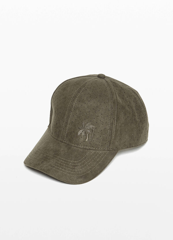 Embroidered openwork baseball cap