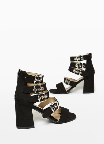 Sandals with chunky heel and straps