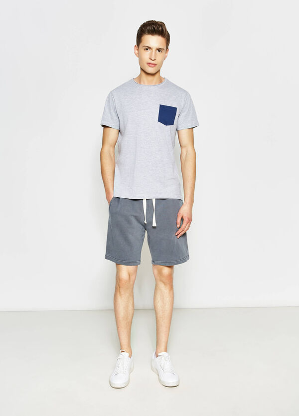 G&H Bermuda shorts in cotton with print | OVS