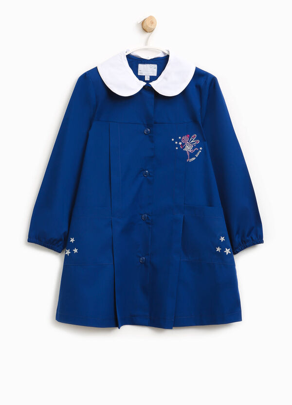 Cotton blend smock with fairy and embroidery | OVS