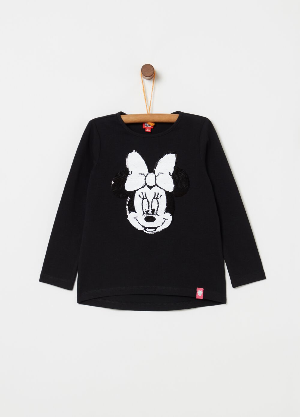 100% cotton T-shirt with Minnie Mouse beading