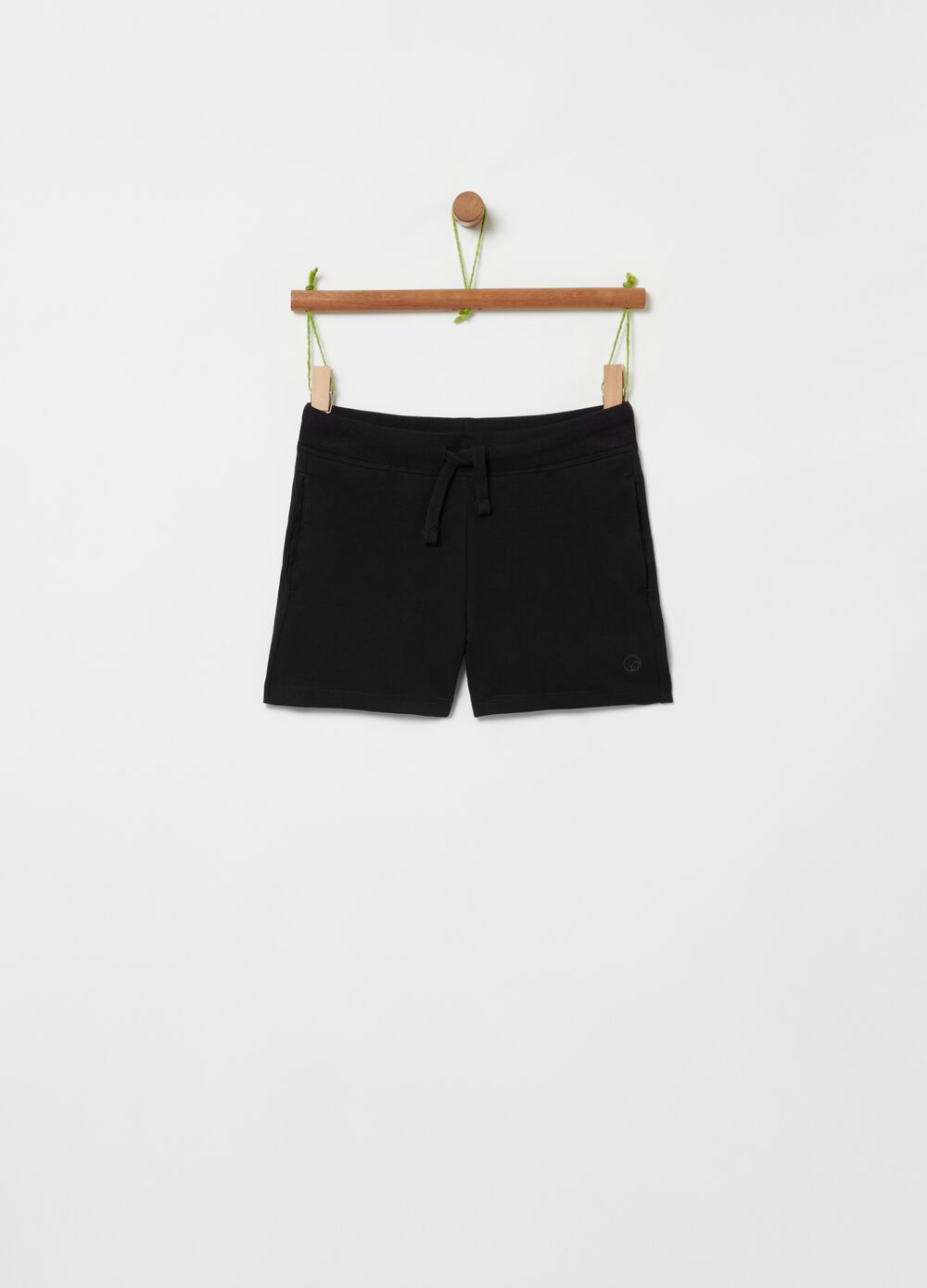 French terry stretch organic cotton shorts