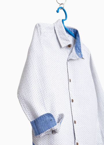 100% cotton shirt with micro floral pattern