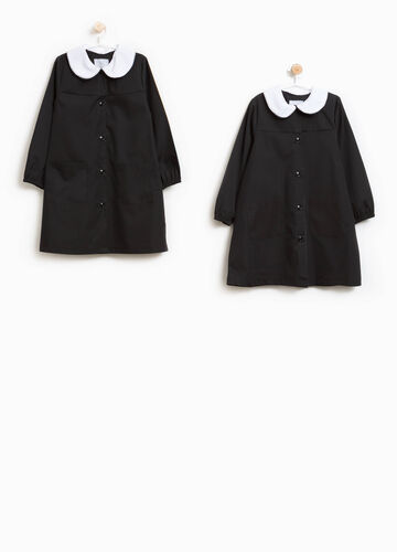 Pack of two smocks with rounded collar