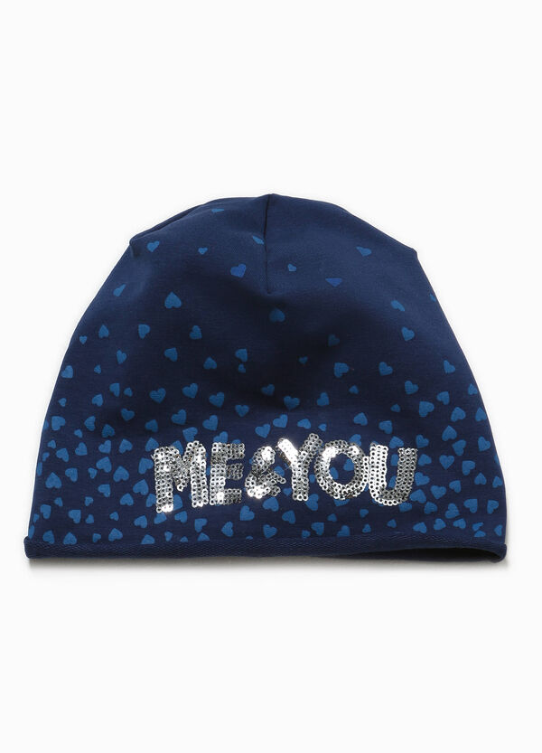 Hearts beanie cap with sequins | OVS