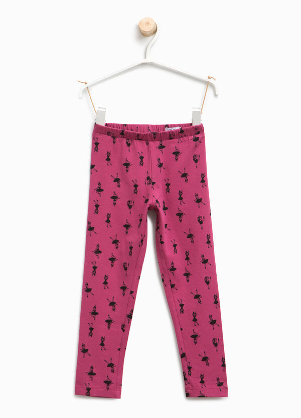 Leggings with all-over ballerina print | OVS
