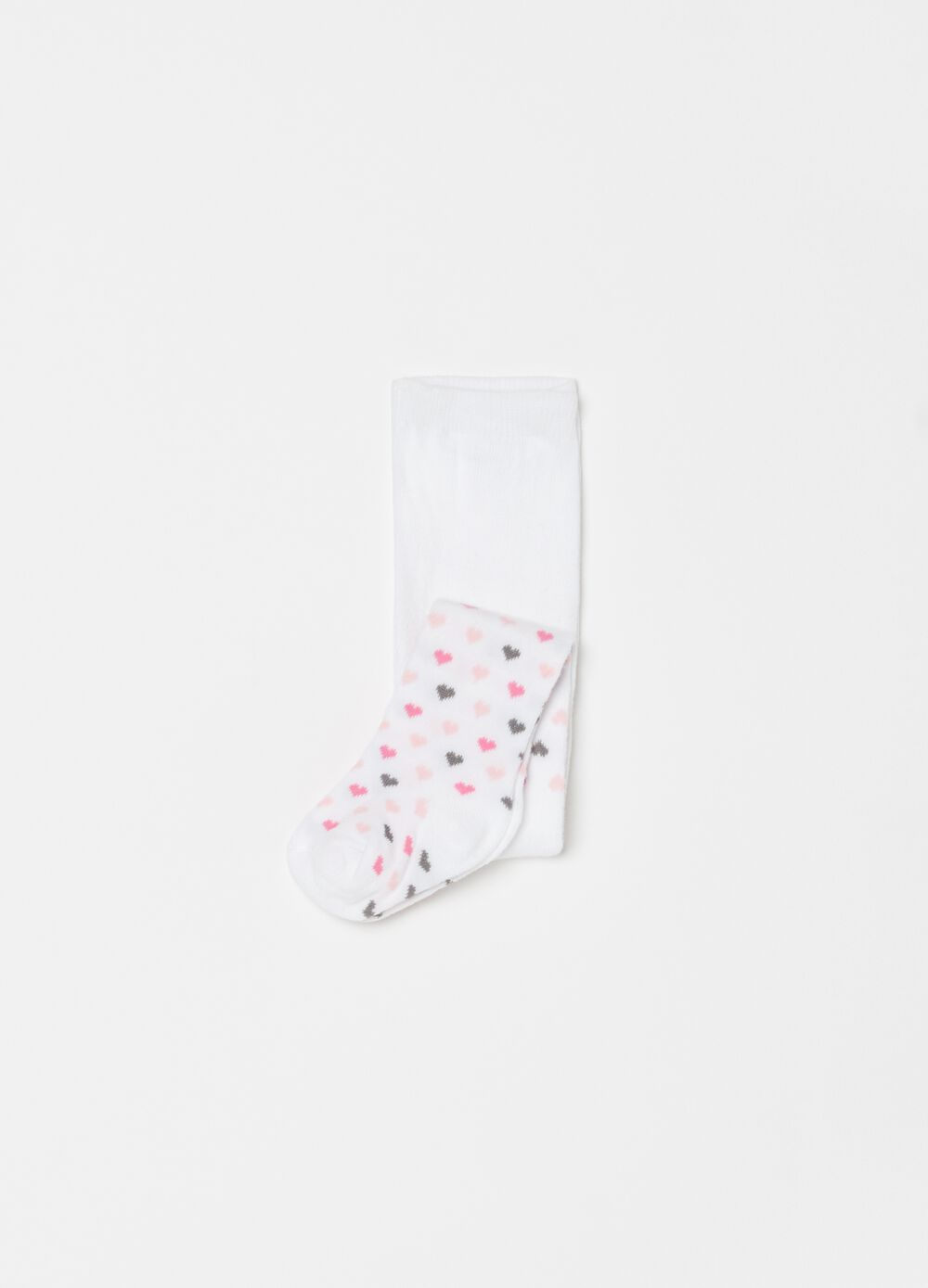 Long socks with hearts pattern