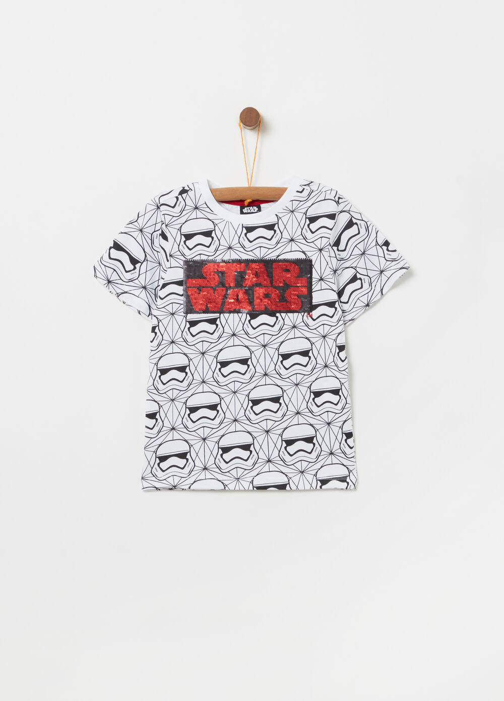 Star Wars T-shirt with reversible sequins