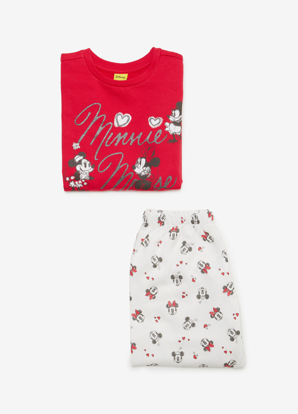 Organic cotton pyjamas with Minnie Mouse print