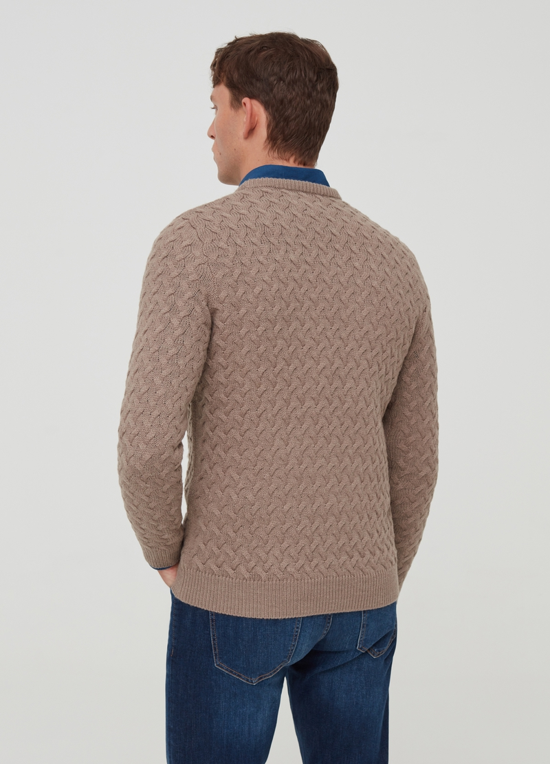 PIOMBO pullover with braided weave image number null