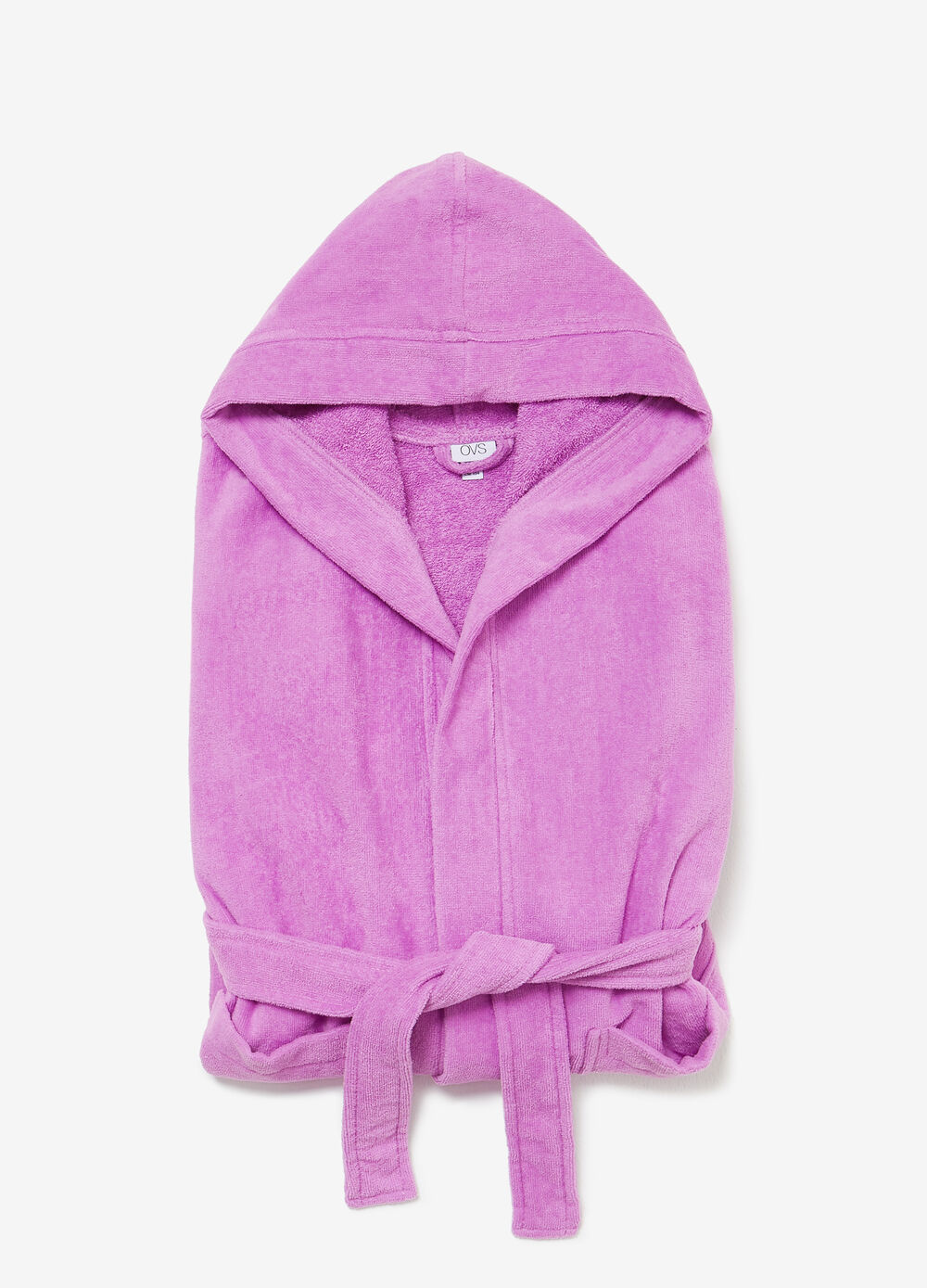 Solid colour cotton bathrobe