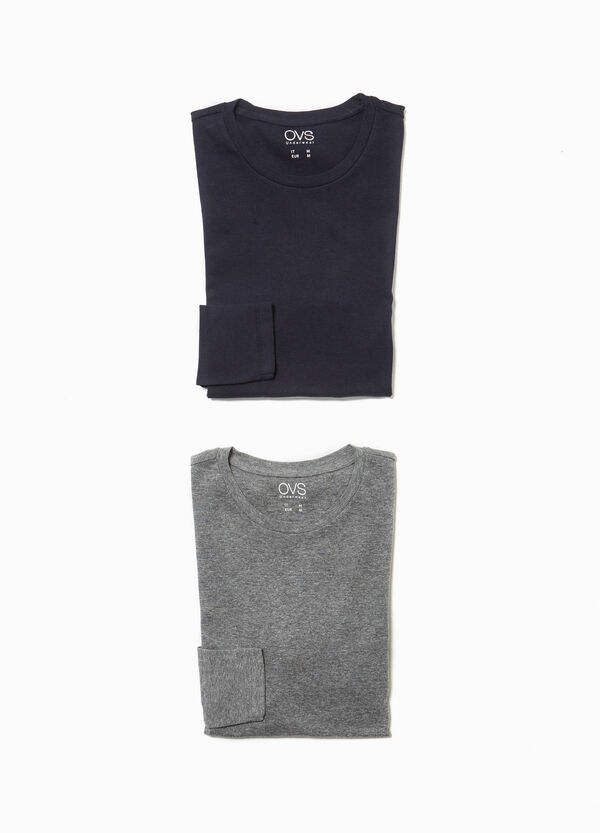 Two-pack cotton pyjama tops