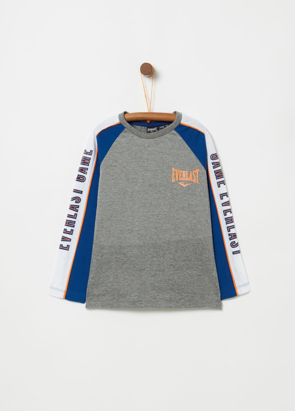 Mélange T-shirt with round neck and Everlast print