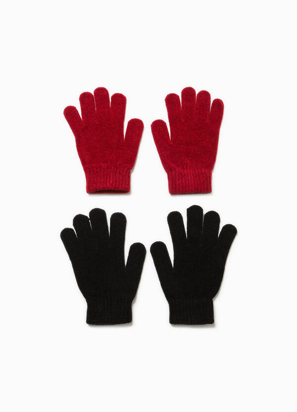Two-pair pack solid colour gloves | OVS