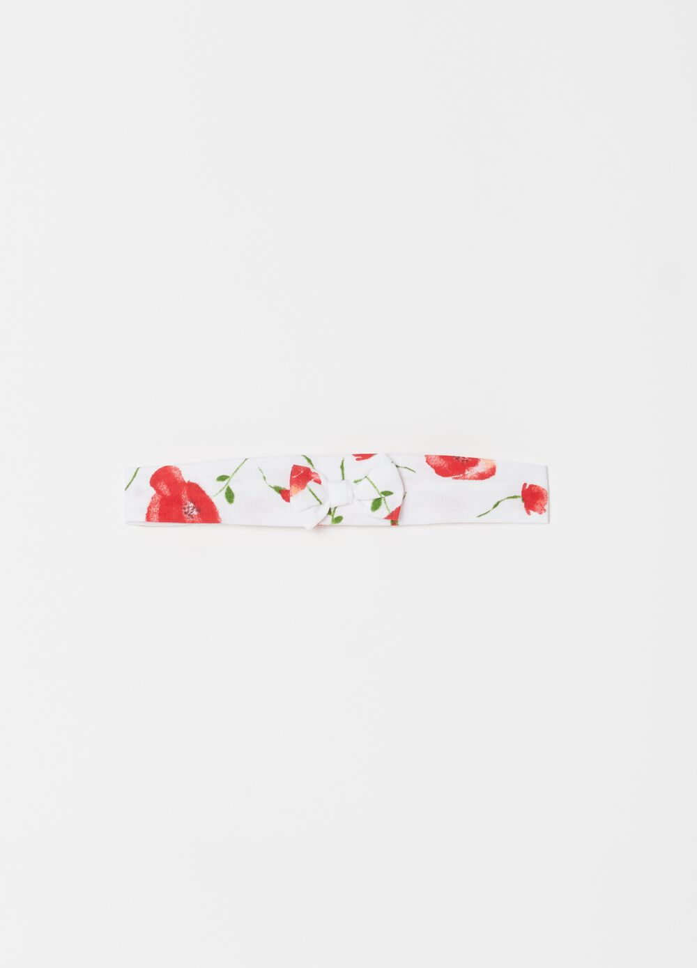 Floral biocotton hairband
