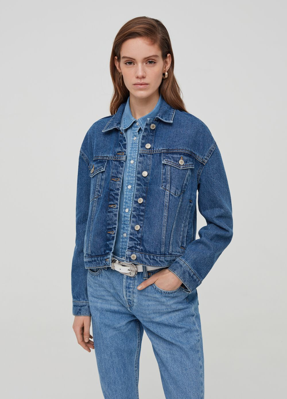 Regular-fit jacket in denim