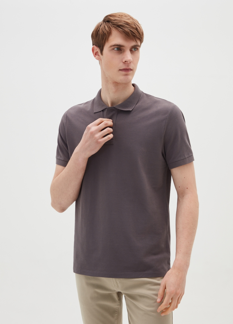 PIOMBO Supima cotton piquet polo shirt image number null