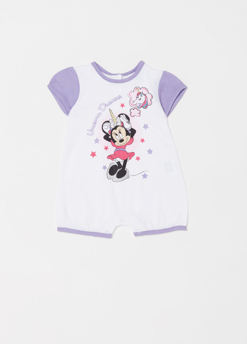 Disney Baby Minnie Mouse romper suit with short sleeves