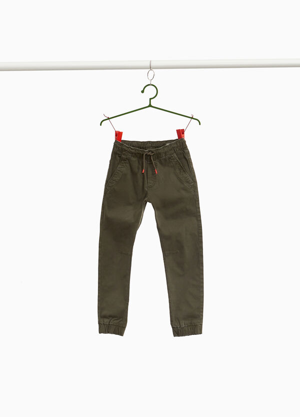 Jogger-fit chino trousers with drawstring