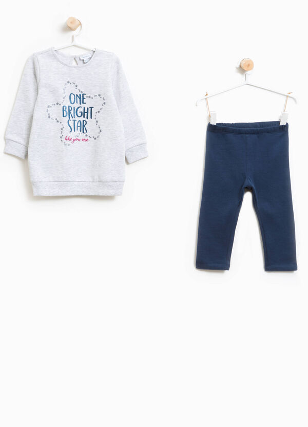100% cotton tracksuit with glitter print | OVS