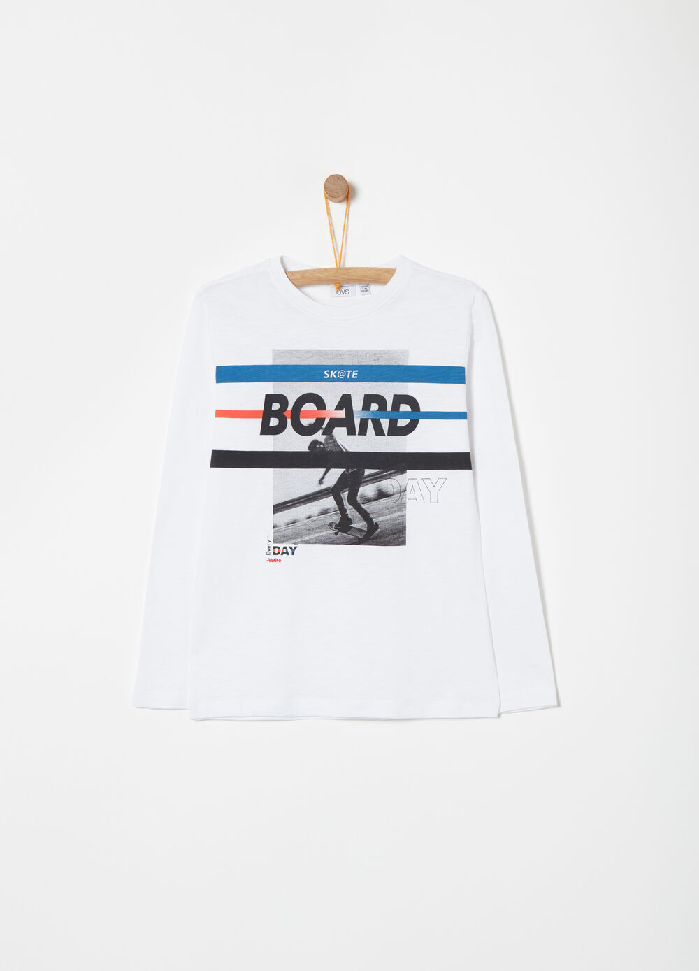 T-shirt in slub jersey with photographic print