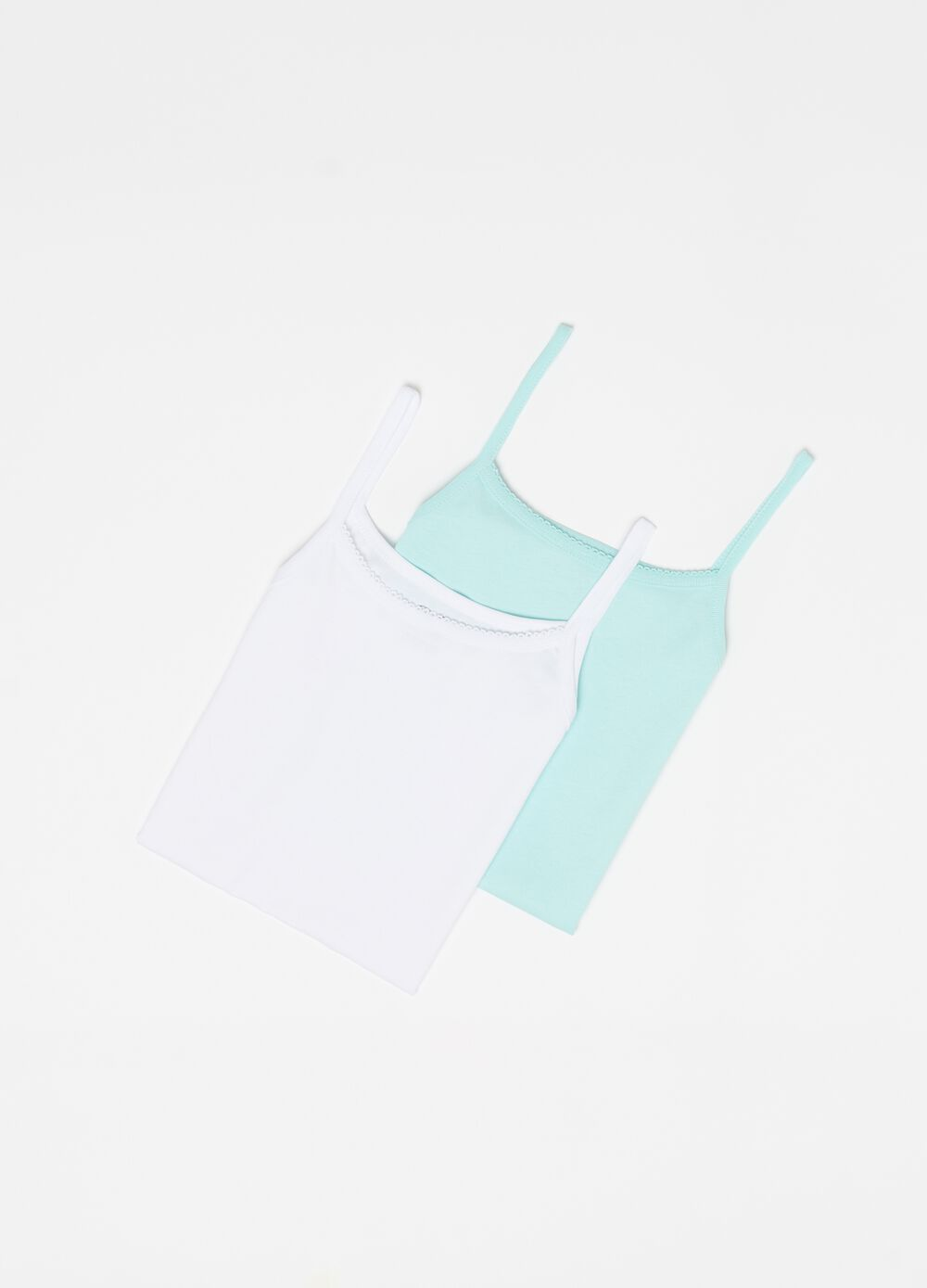 Two-pack smooth cotton vests