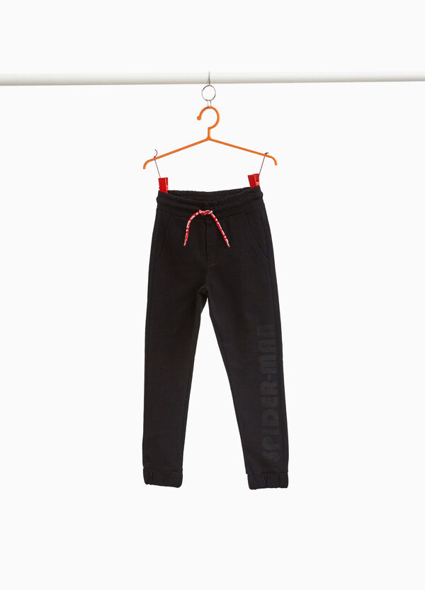 Joggers with Spiderman print