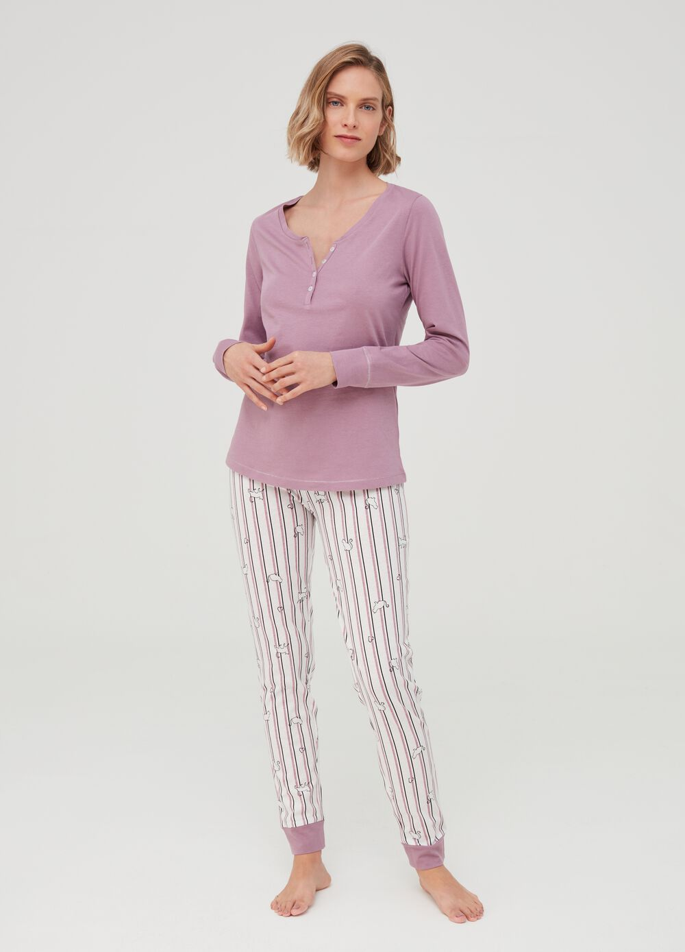 100% organic cotton pyjamas with stripes