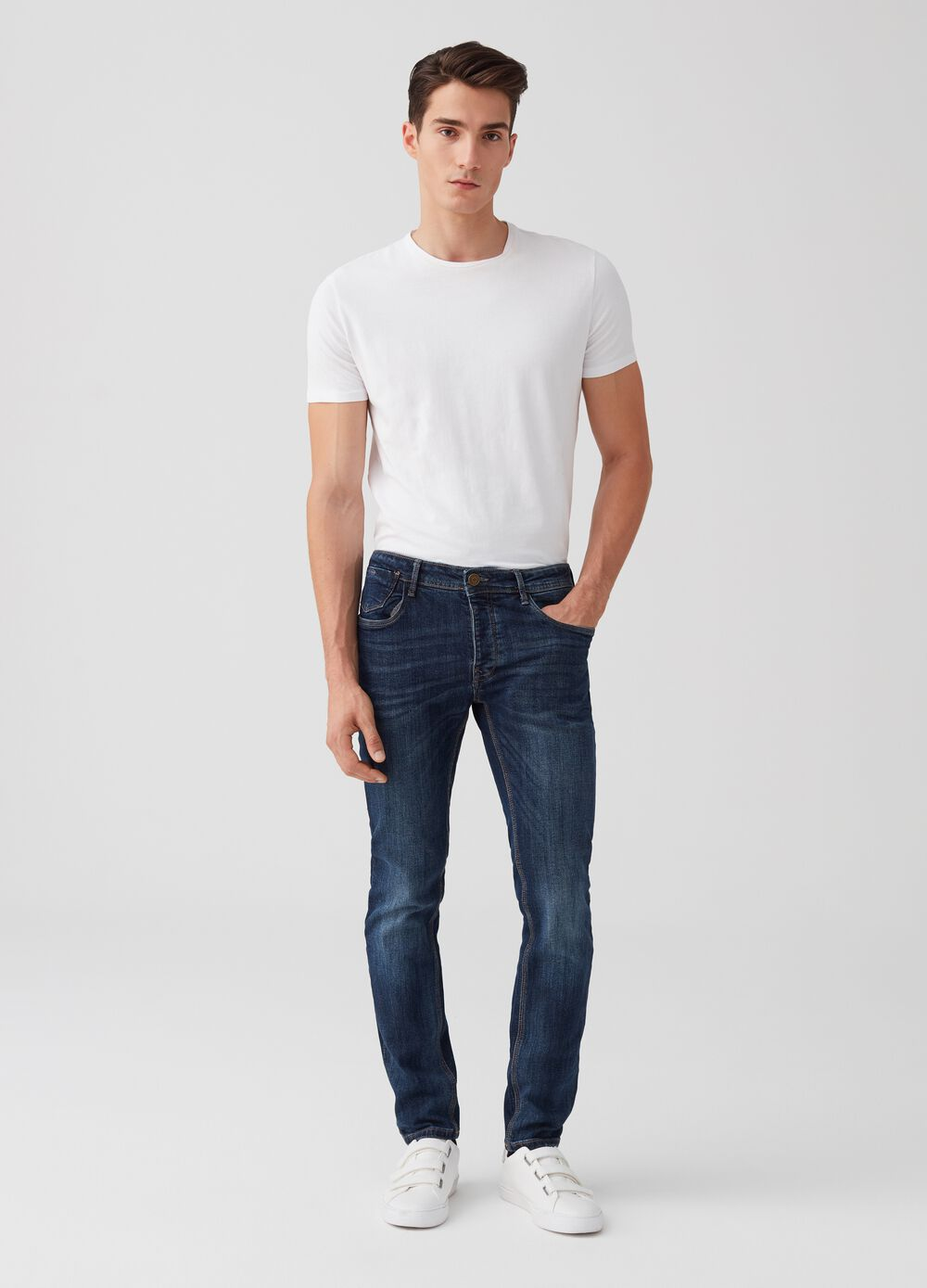 5-pocket, skinny fit jeans