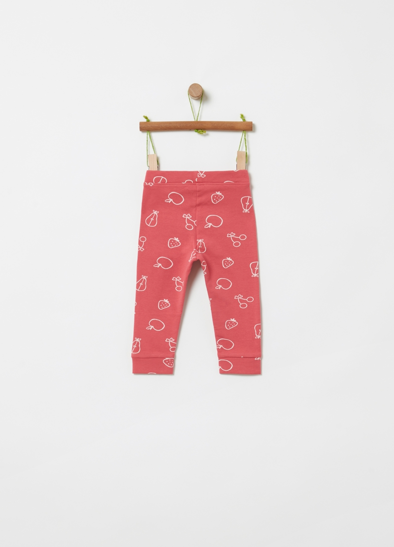 Organic cotton French terry joggers image number null