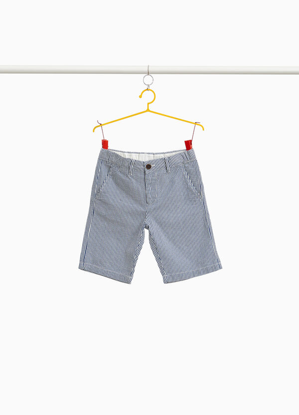 Striped Bermudas in 100% cotton