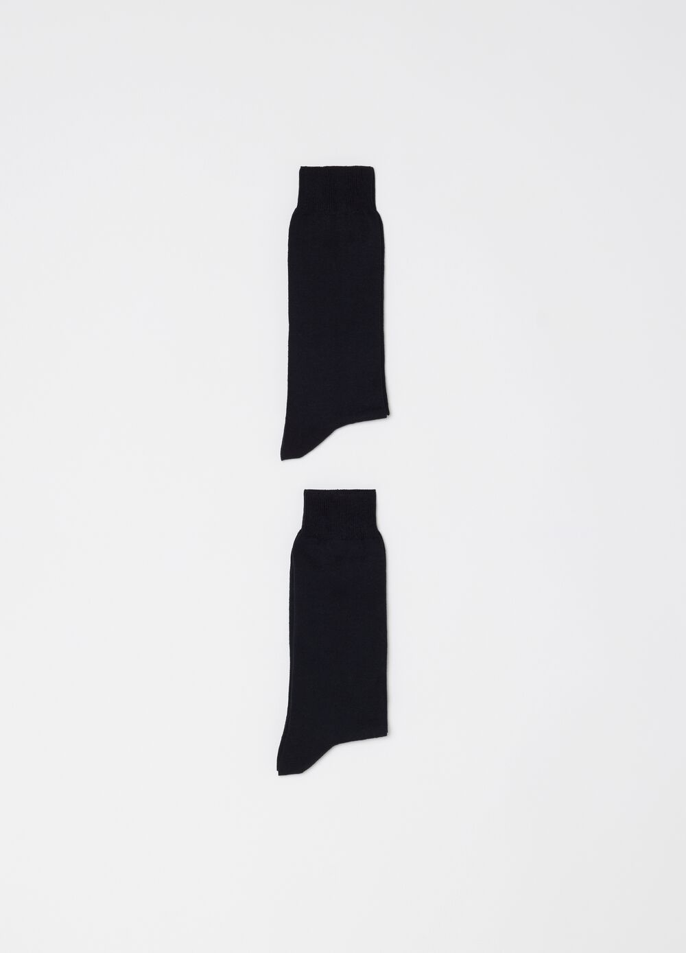 Two-pair pack long socks in cotton blend