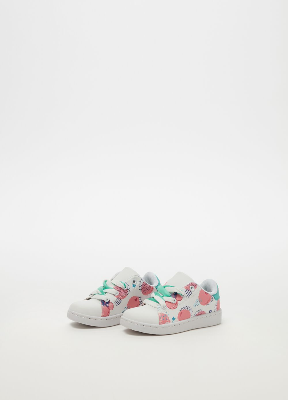 Minnie Mouse sneakers with pattern and laces