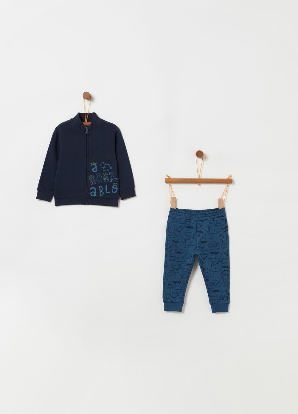 Dinosaur sweatshirt and trousers jogging set