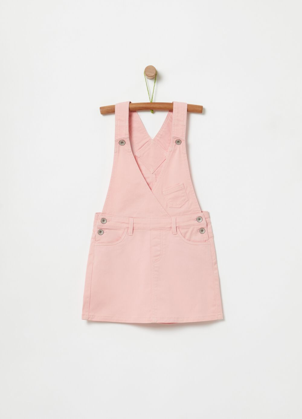 Twill dungarees with pockets