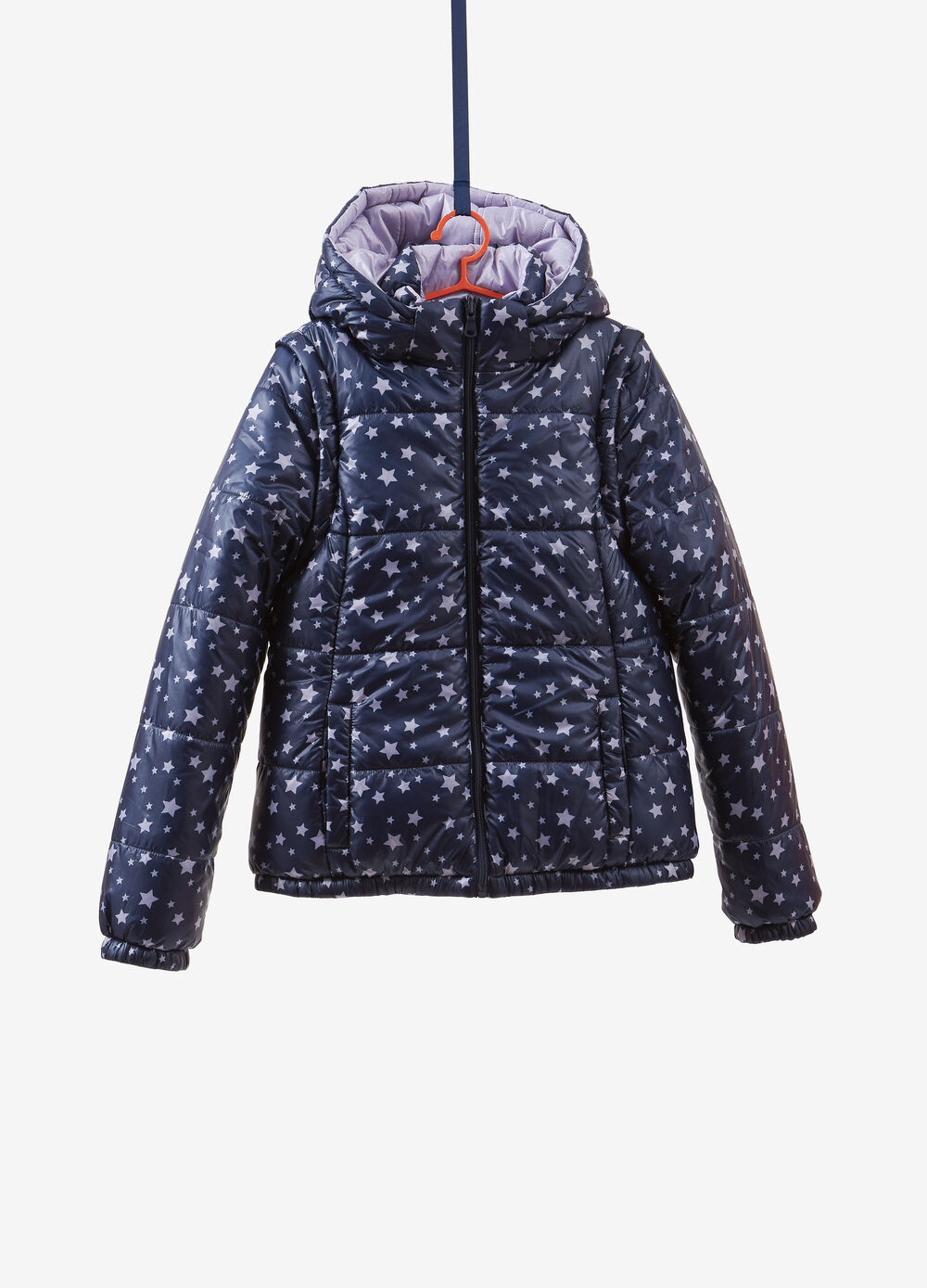 Quilted jacket with star pattern