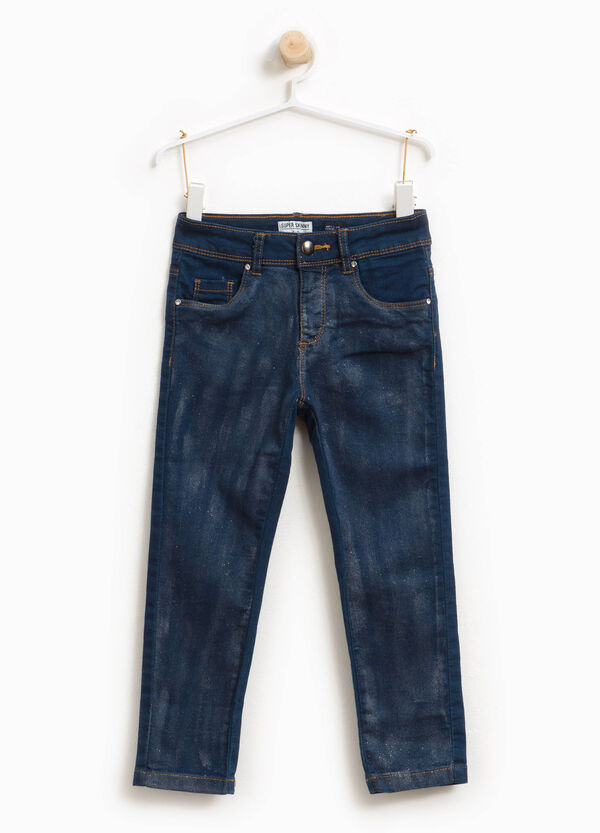 Jeans stretch glitterati effetto used | OVS