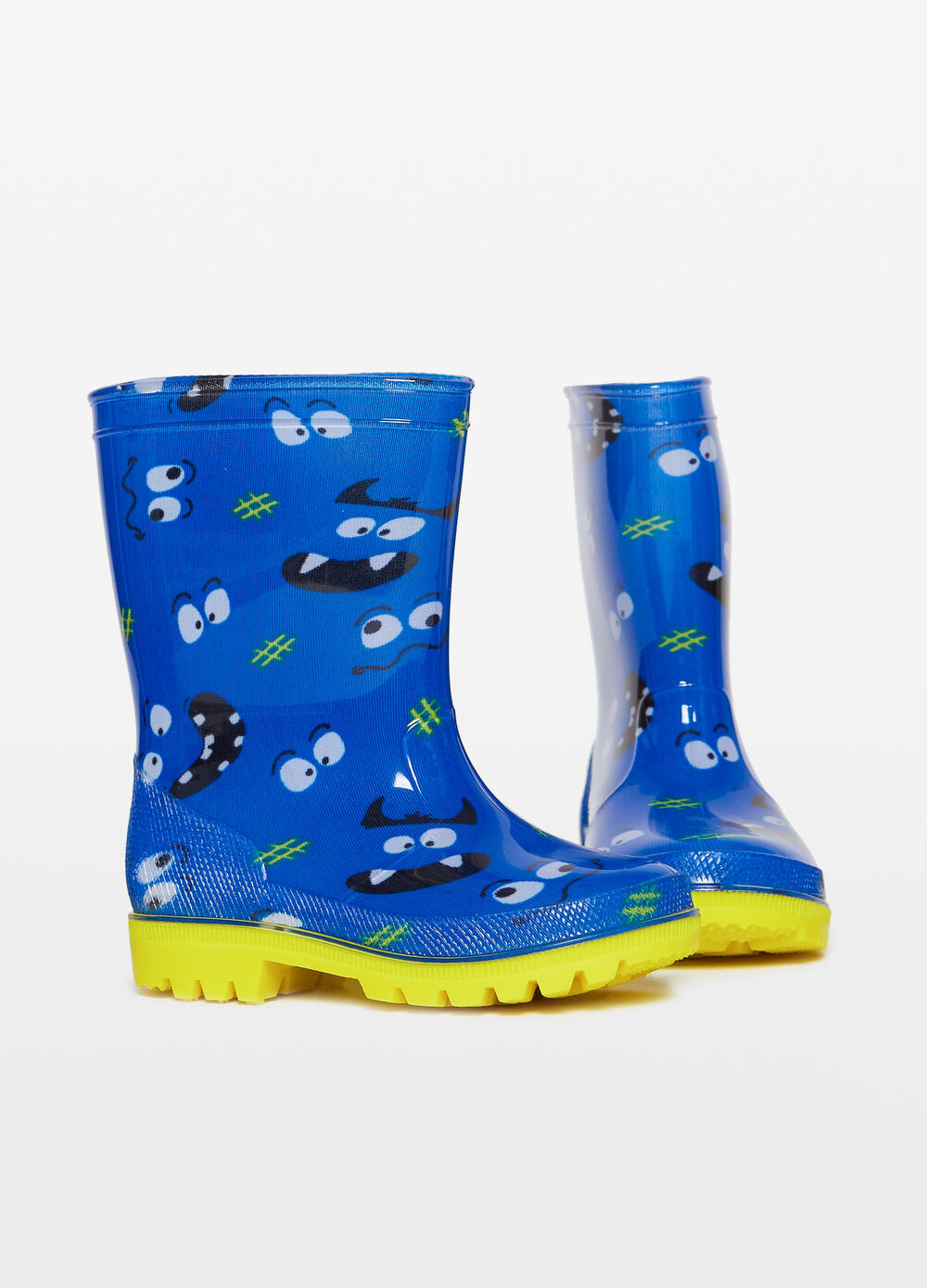 Monster patterned rain boots
