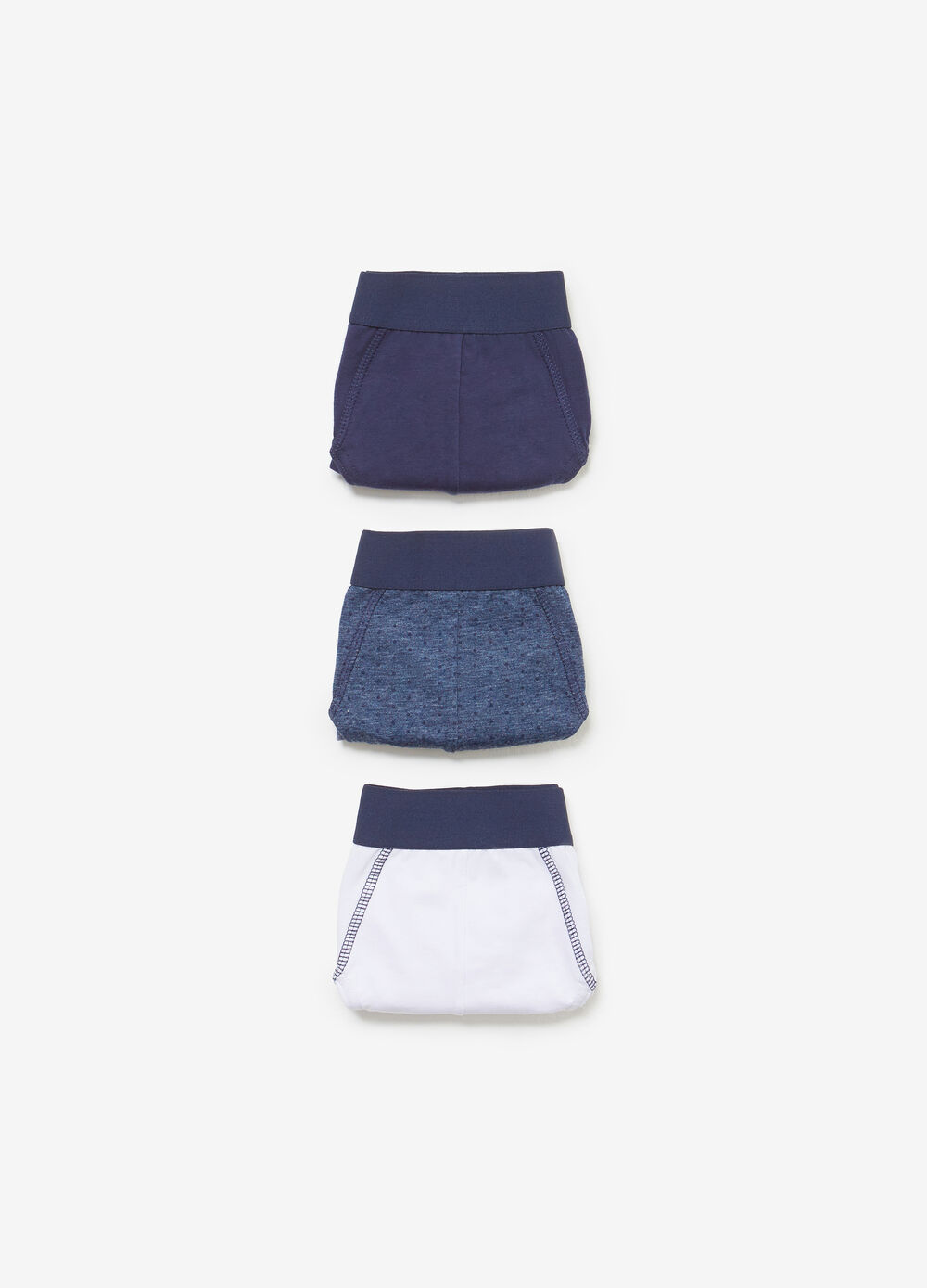 Three-pack cotton solid colour and printed briefs