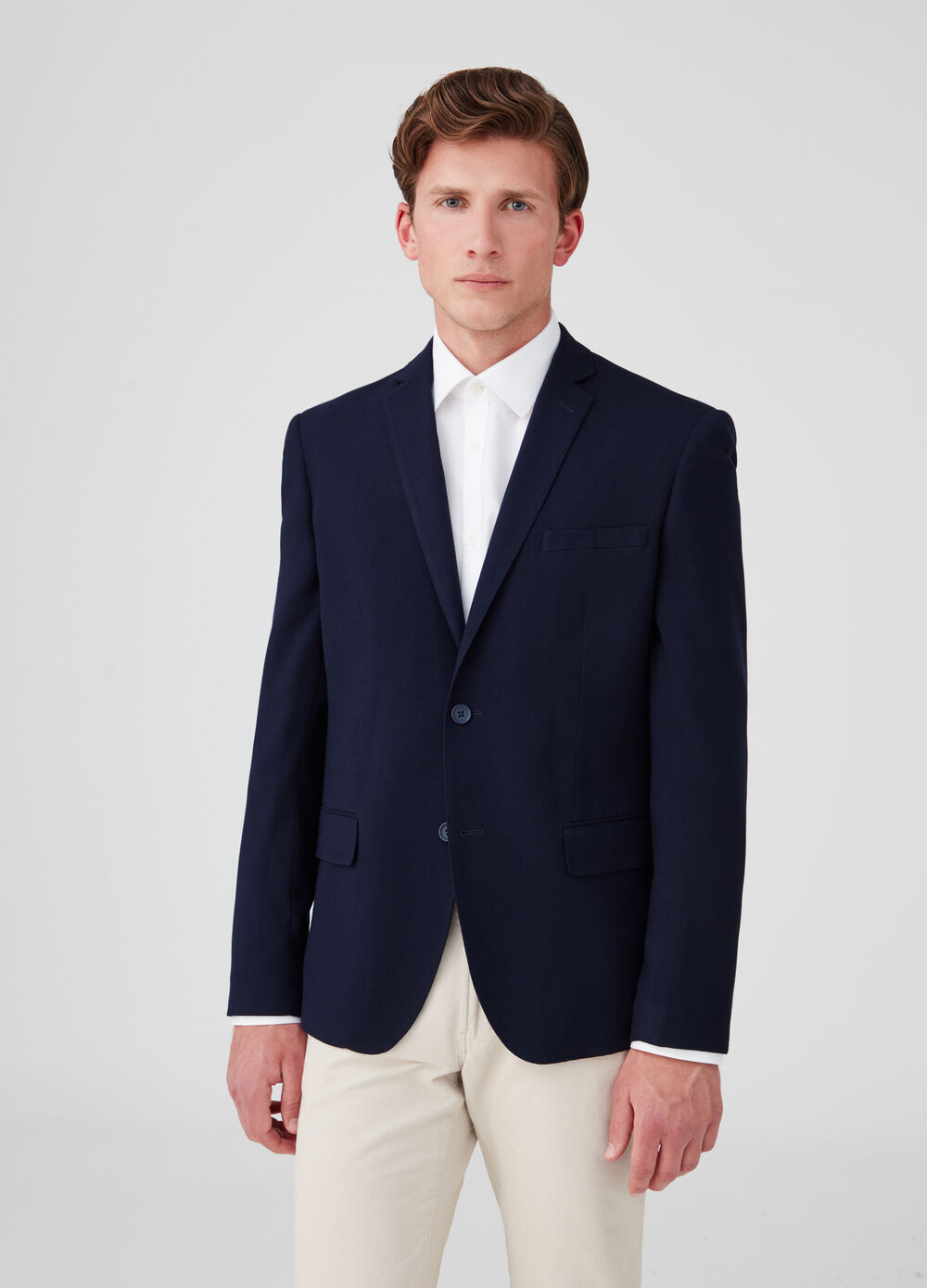 Stretch two-button slim-fit jacket