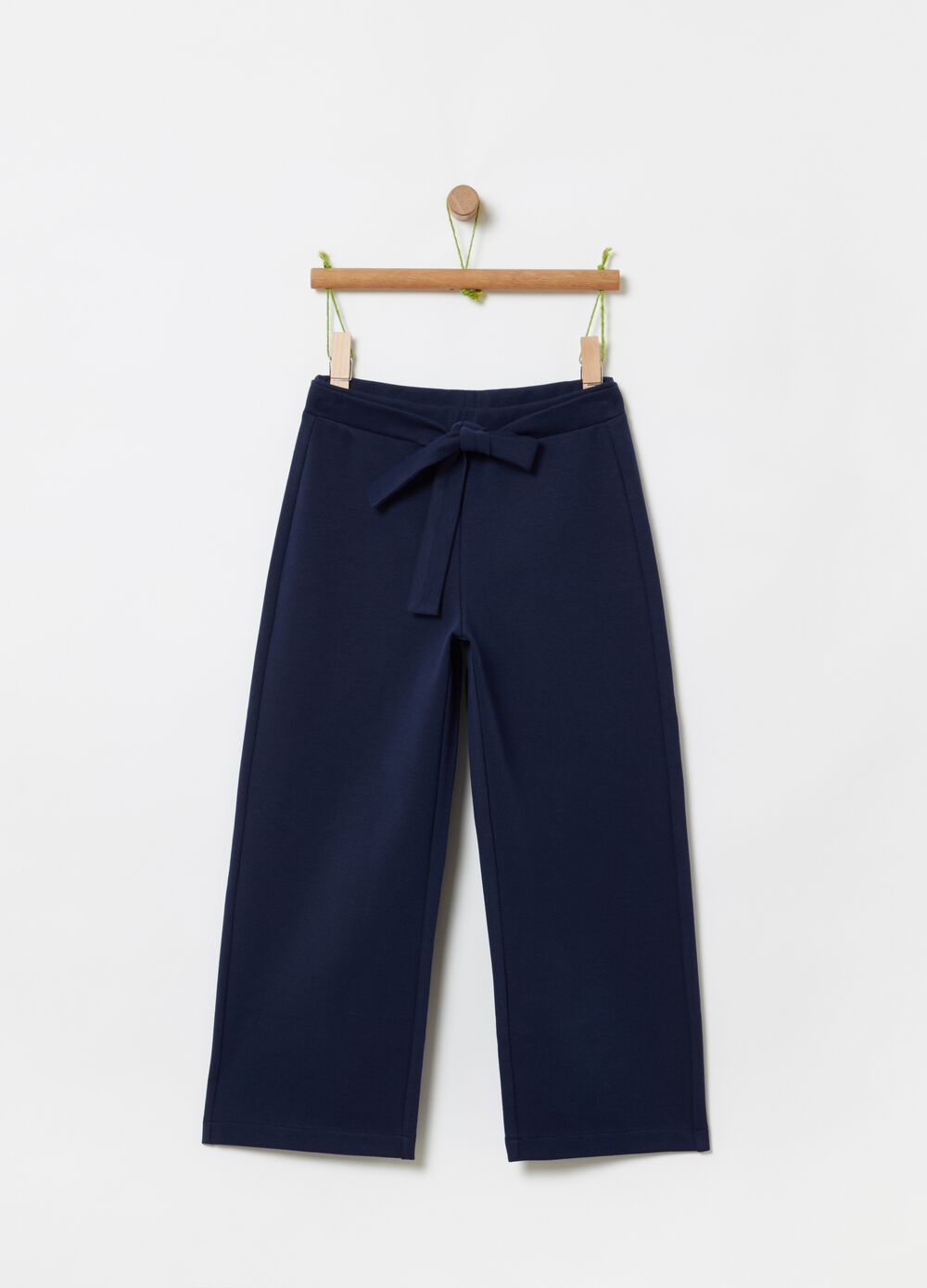 Organic cotton crop trousers