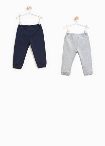 Two-pack solid colour trousers in cotton
